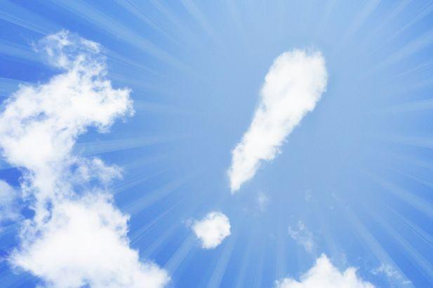 雲でできたビックリマーク