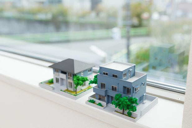 一戸建ての家の模型