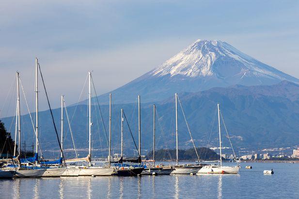 静岡県沼津から見た富士山