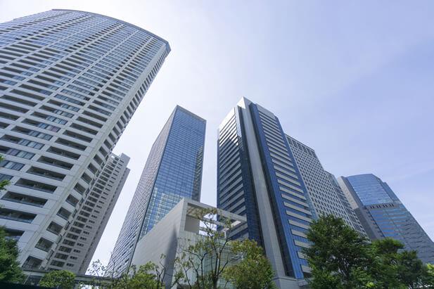 大手企業の高層ビルディング